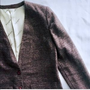Yves Saint Laurent Mulberry Tweed Jacket